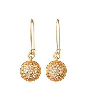 Spartina 449 gold pearl pave earrings two in one